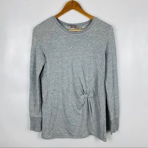 Athleta XS Long Sleeve Gray Top